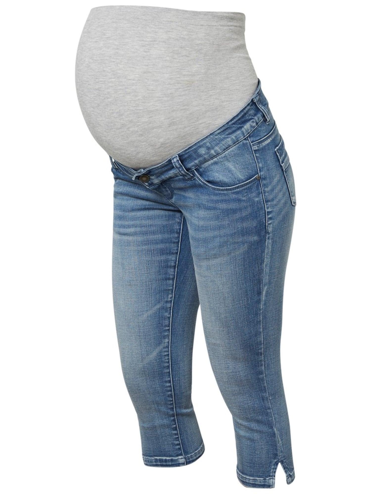 MAMALICIOUS Džinsai margai pilka / tamsiai (džinso) mėlyna