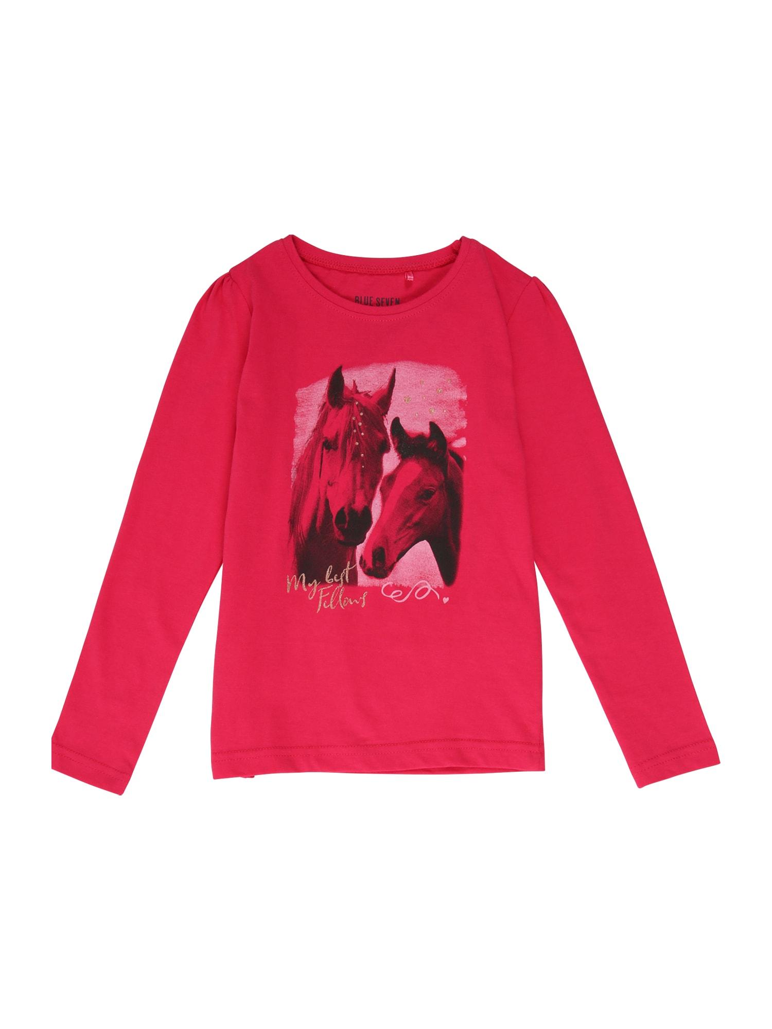 BLUE SEVEN Marškinėliai šviesiai rožinė / fuksijų spalva