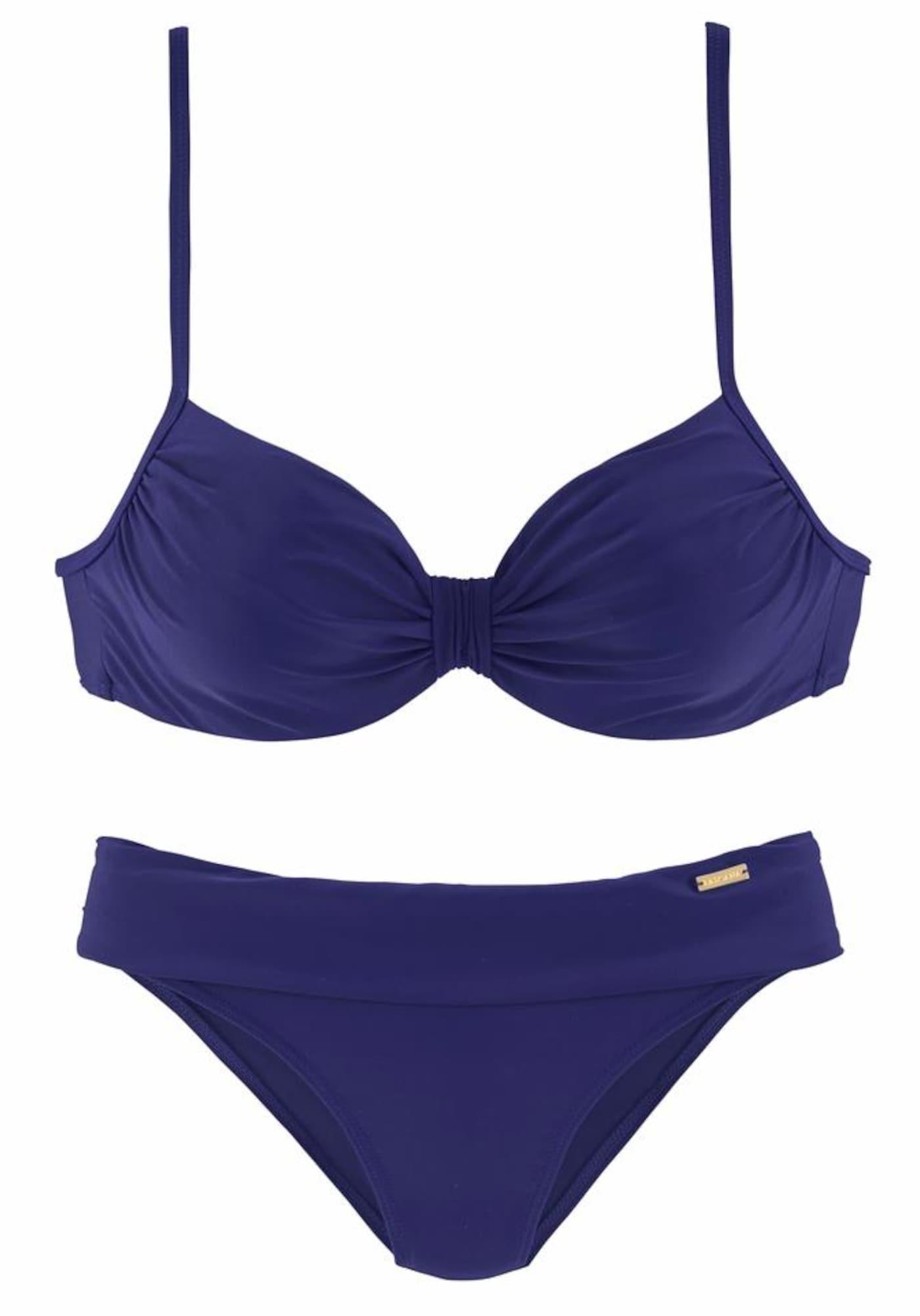 Bikiny tmavě fialová LASCANA
