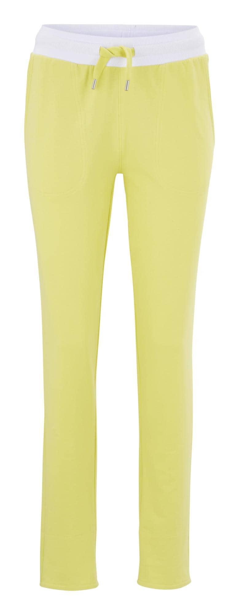 heine Nohavice  pastelovo žltá / biela