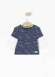S.Oliver,S.Oliver Junior,s.Oliver Kinder,Mädchen Layer-Look-Shirt mit Sternchen blau,weiß | 04055268143057