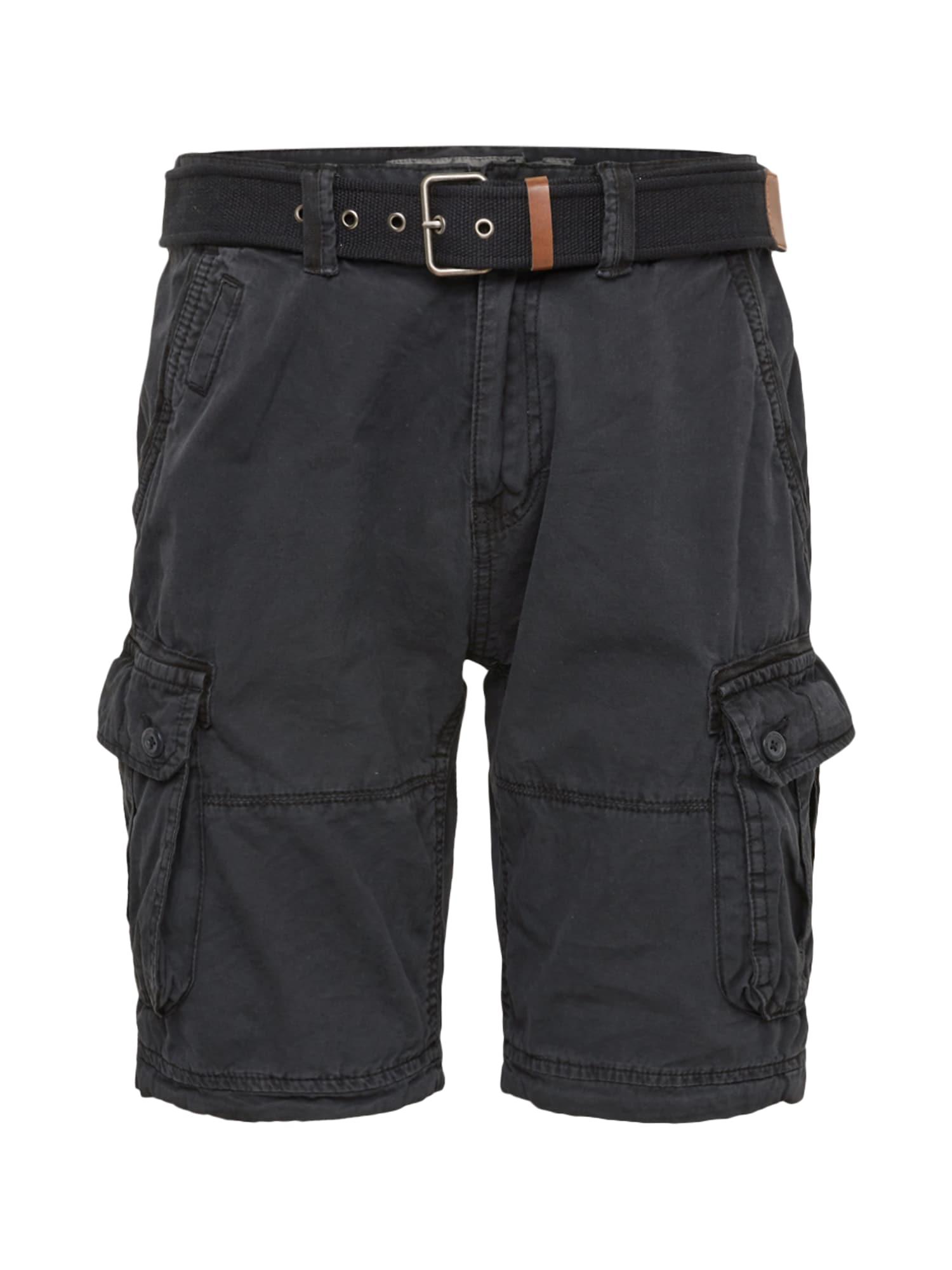INDICODE JEANS Laisvo stiliaus kelnės 'Balton' juoda