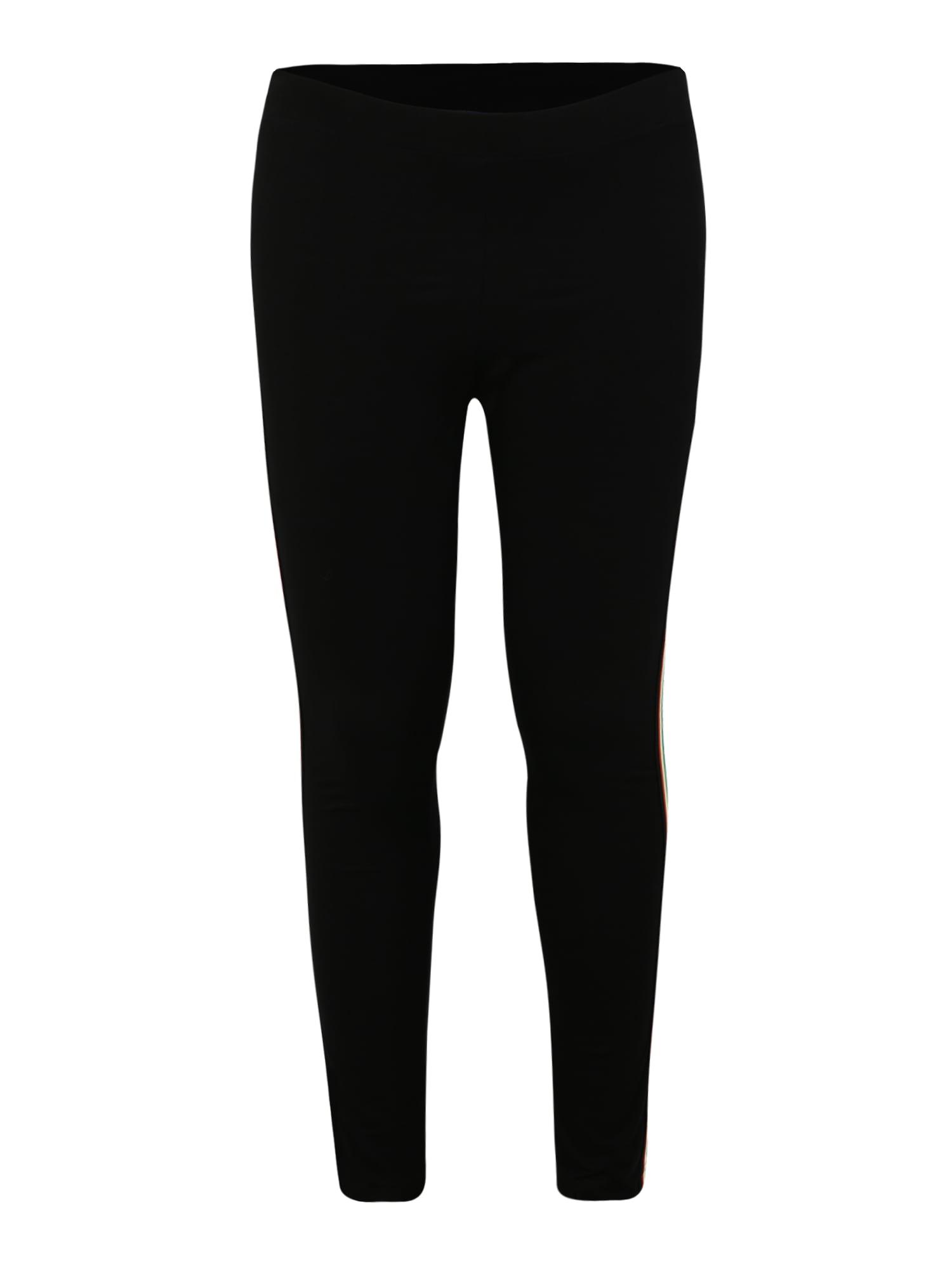 Legíny Ladies Multicolor Side Taped Leggings mix barev černá Urban Classics Curvy