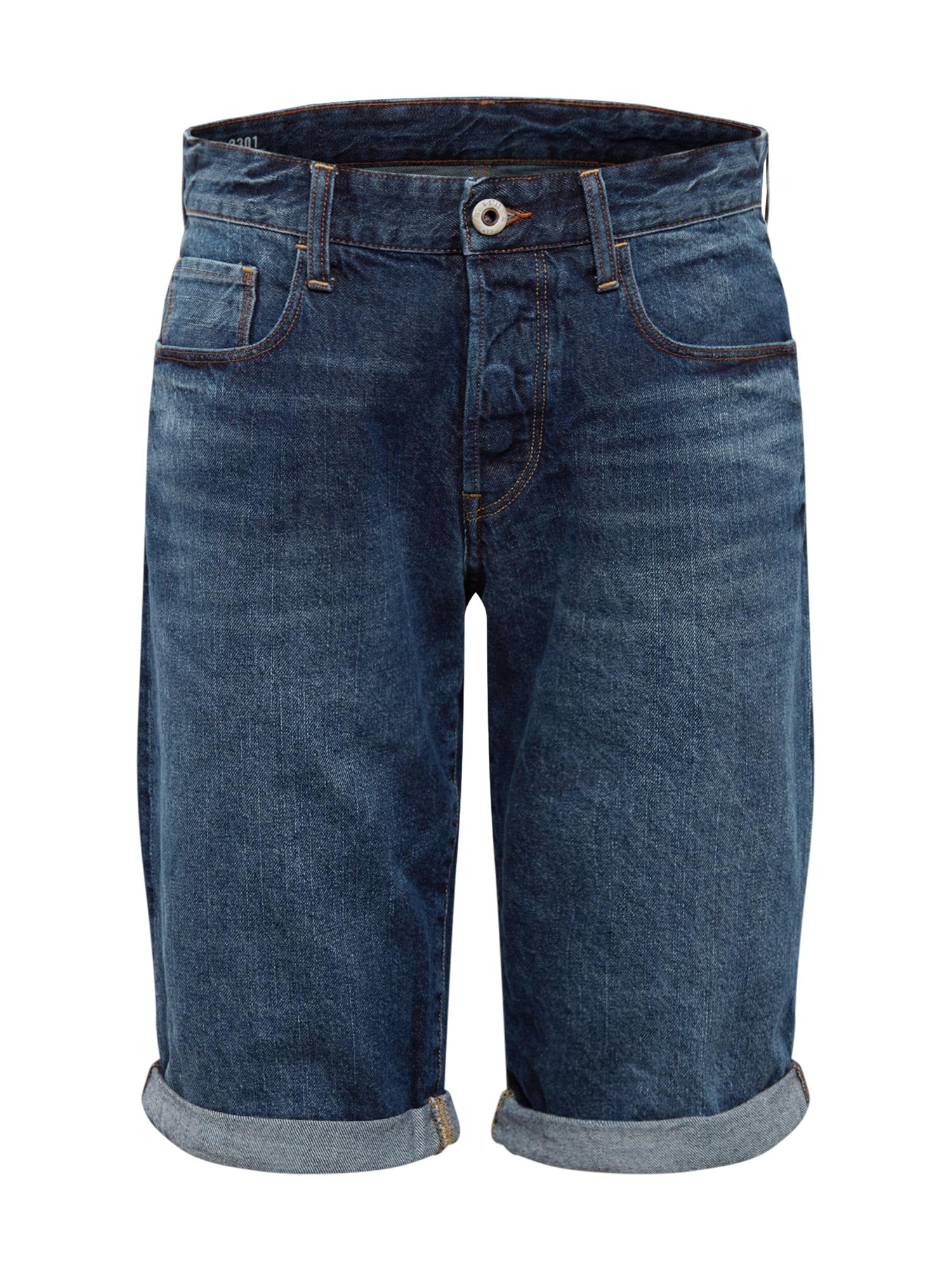 G-Star RAW Džinsai '3301 1/2' tamsiai (džinso) mėlyna