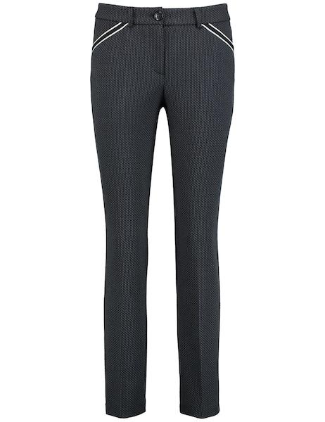 Hosen für Frauen - Hose › TAIFUN › navy grau  - Onlineshop ABOUT YOU