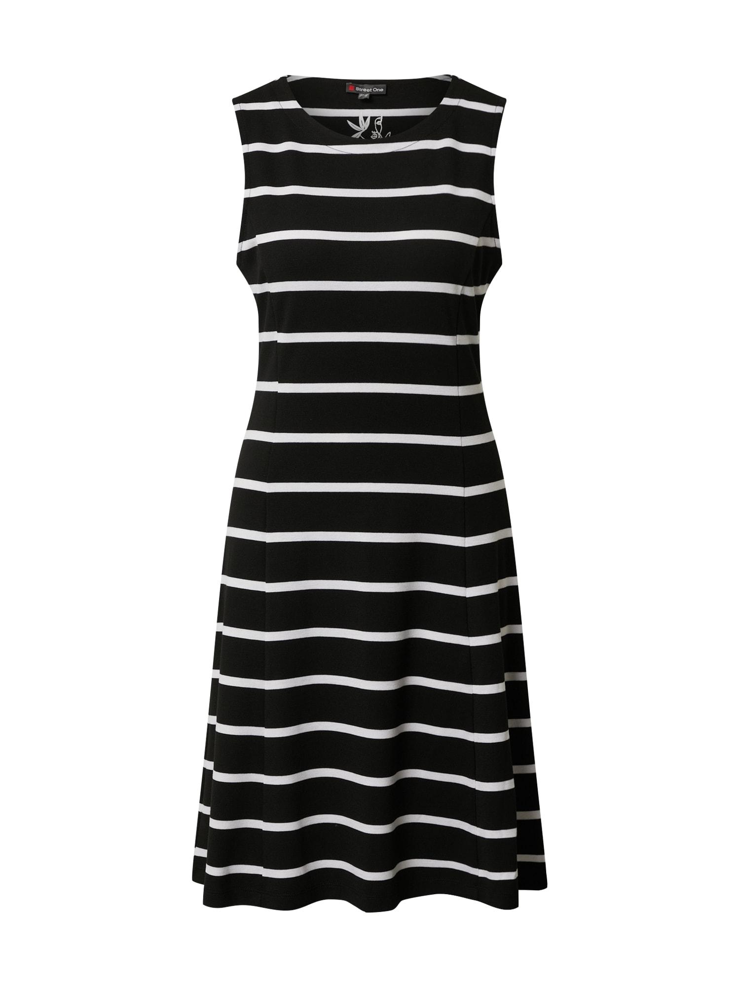 STREET ONE Šaty  bílá / černá