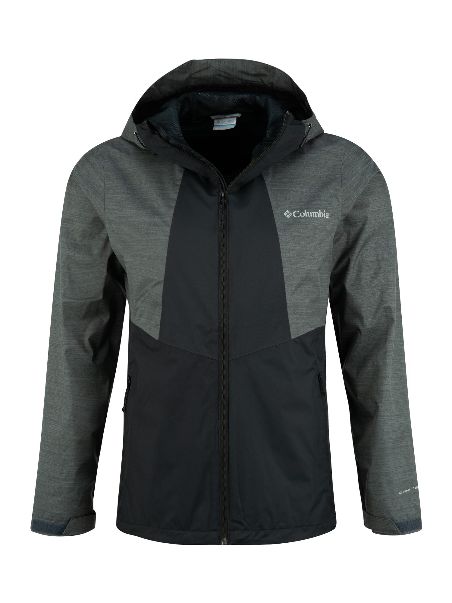 COLUMBIA Sportinė striukė 'M Inner Limits II Jacket' tamsiai pilka / juoda