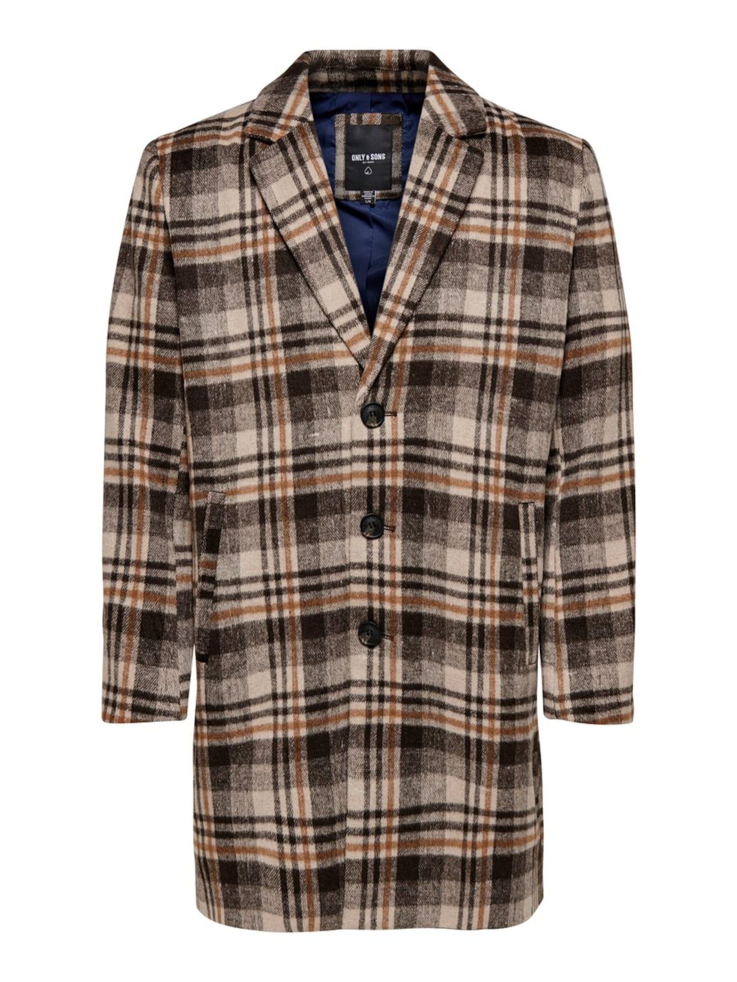 Only & Sons Rudeninis-žieminis paltas ruda / ruda (konjako)