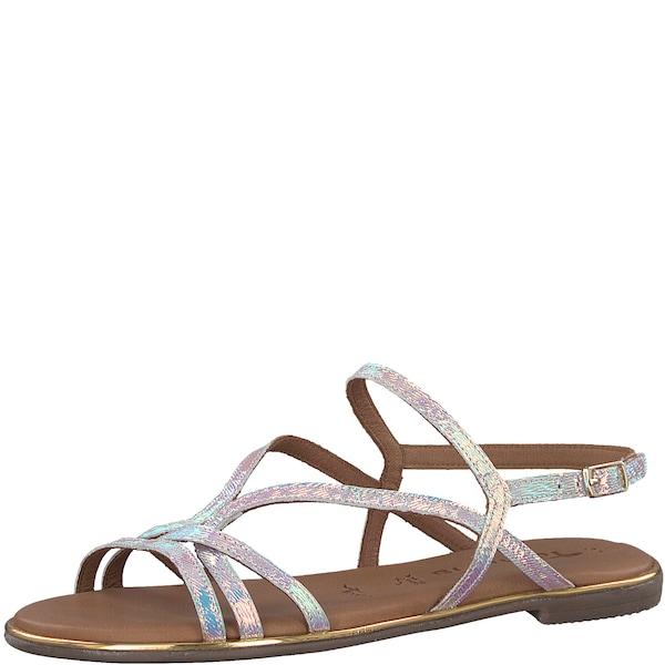 Sandalen für Frauen - TAMARIS Sandale elegant silber  - Onlineshop ABOUT YOU