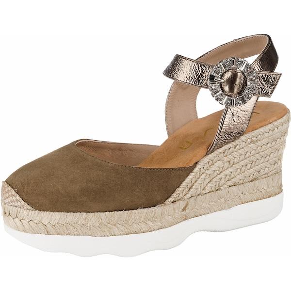 Highheels - Sandaletten › Unisa › braun gold  - Onlineshop ABOUT YOU