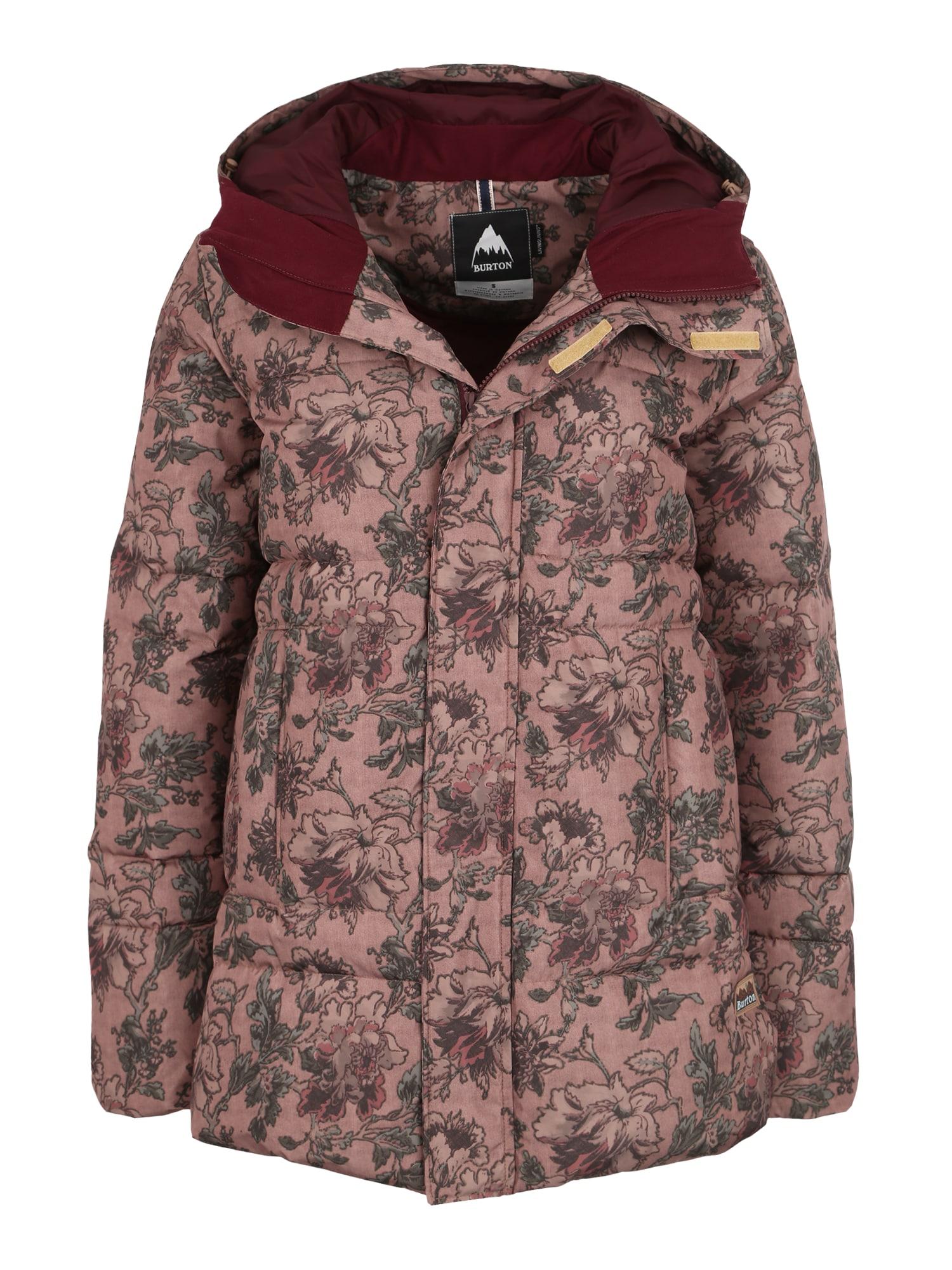BURTON Laisvalaikio striukė 'MORA MOSS' ruda / alyvuogių spalva / rožių spalva
