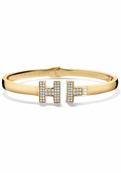 Armbaender für Frauen - TOMMY HILFIGER Armspange 'Classic Signature, 2700984' gold  - Onlineshop ABOUT YOU