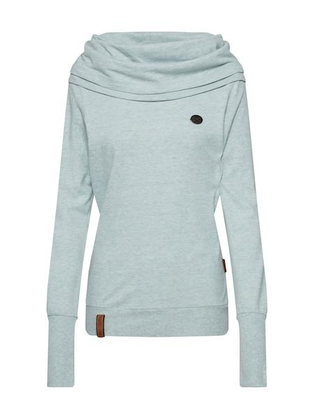 Oberteile für Frauen - Sweatshirt 'Kurzer Schniedelwutz' › Naketano › mint  - Onlineshop ABOUT YOU