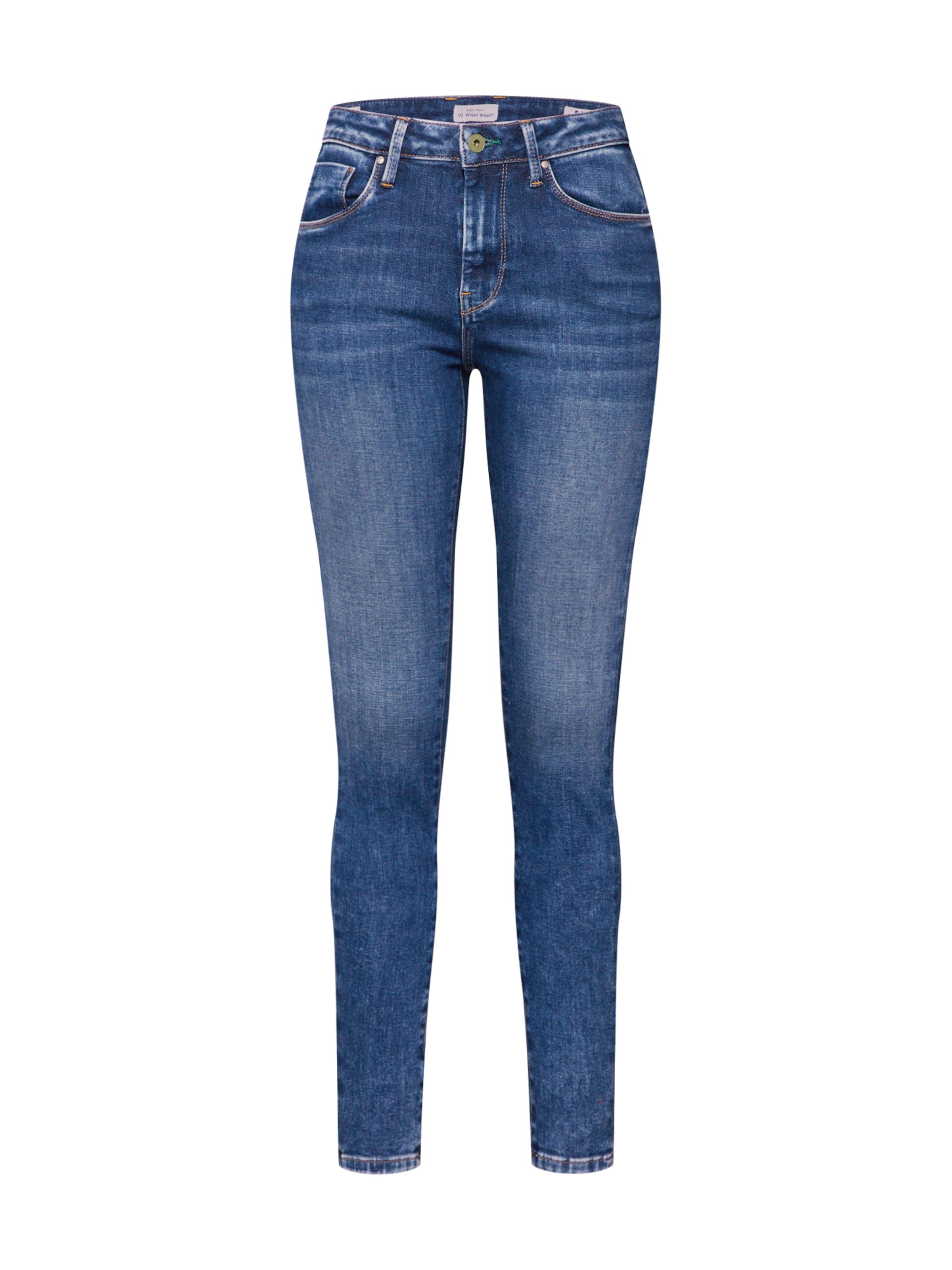 Damen Pepe Jeans Jeans 'Regent' blau, rot, schwarz,  silber | 08434786541525