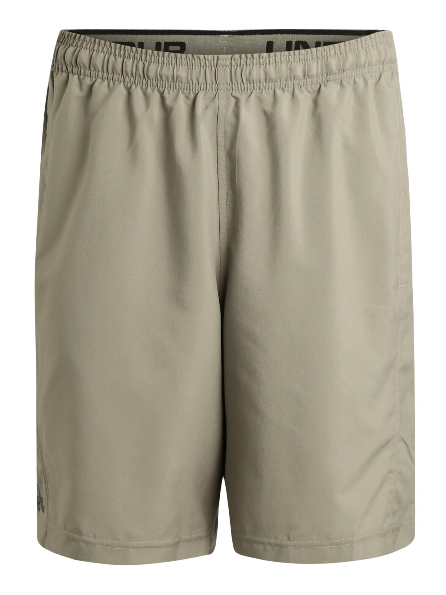 UNDER ARMOUR Sportovní kalhoty 'Woven'  černá / krémová
