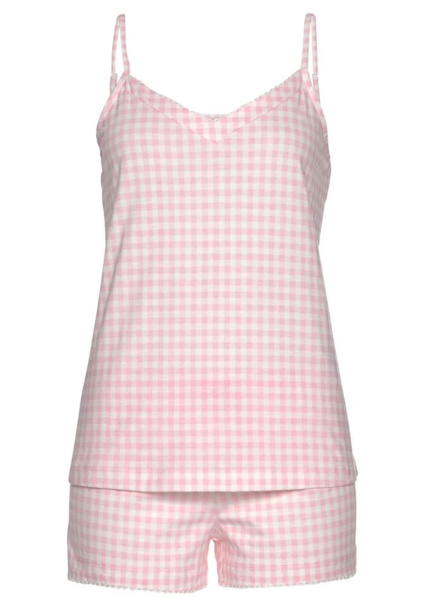 VIVANCE Pyžamo  růžová / bílá