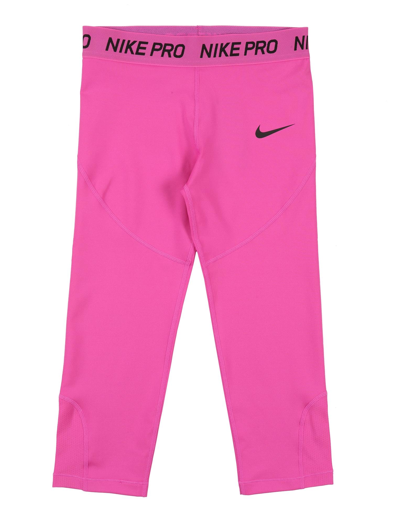 NIKE Outdoorové nohavice  ružová / čierna