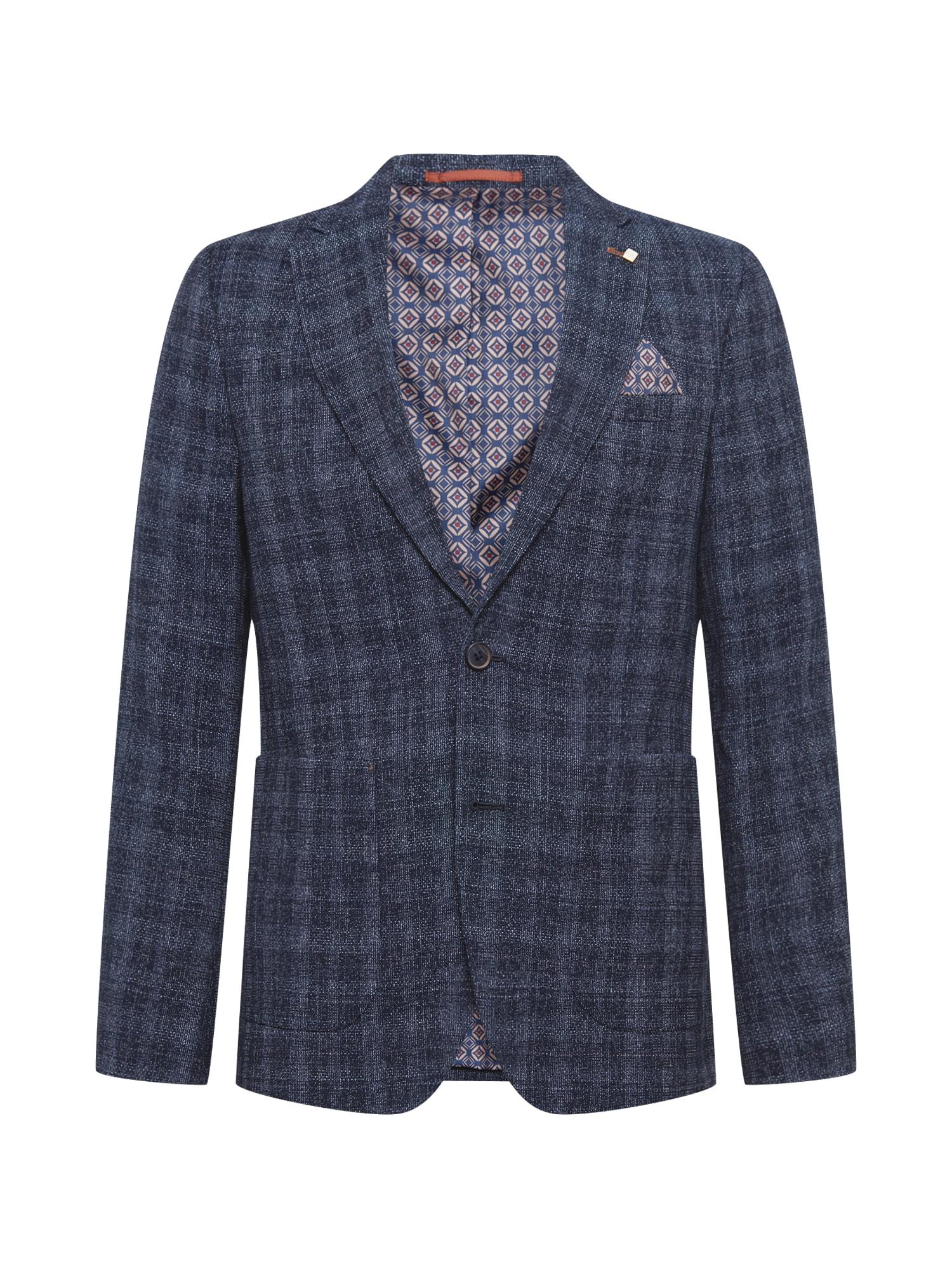 BURTON MENSWEAR LONDON Klasikinis švarkas pilka / tamsiai mėlyna