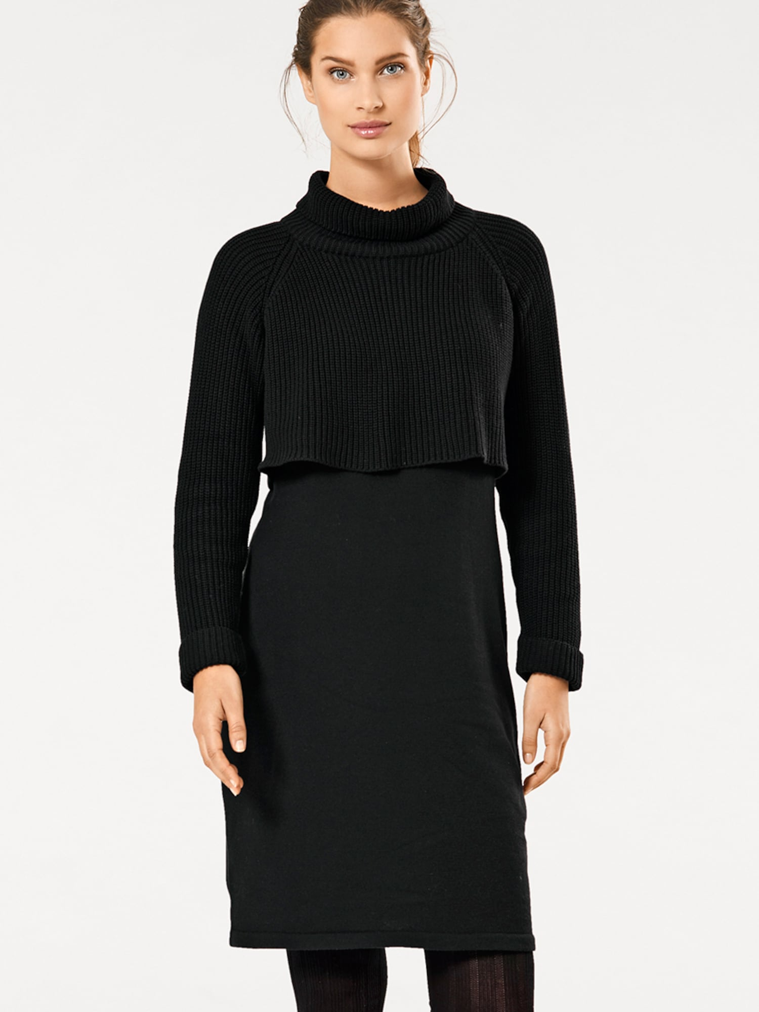 heine Pletené šaty  čierna.