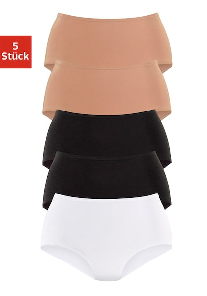 Waesche für Frauen - PETITE FLEUR Taillenslips (5 Stck.) hellbeige schwarz weiß  - Onlineshop ABOUT YOU