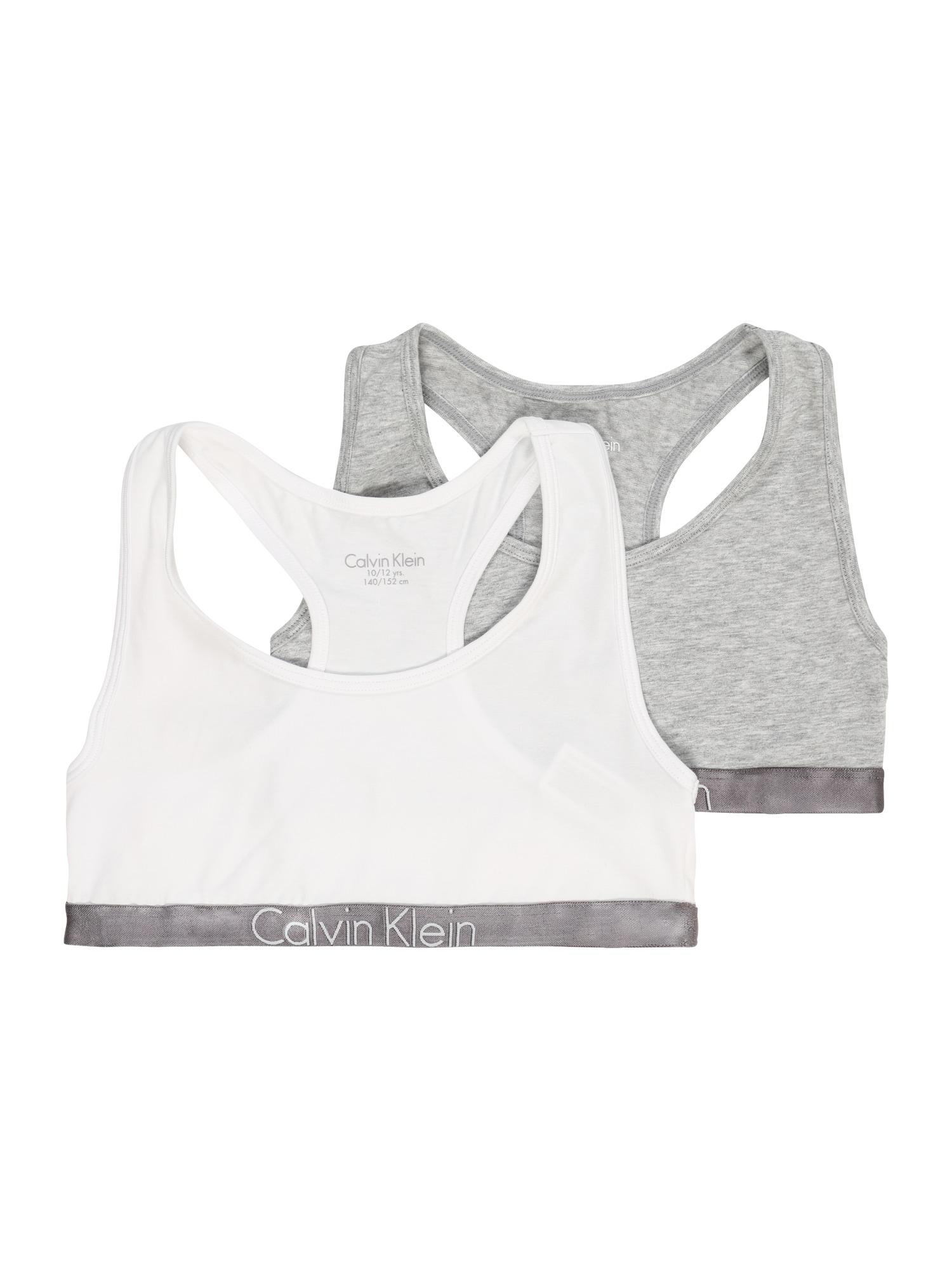 Calvin Klein Underwear Liemenėlė margai pilka / balta
