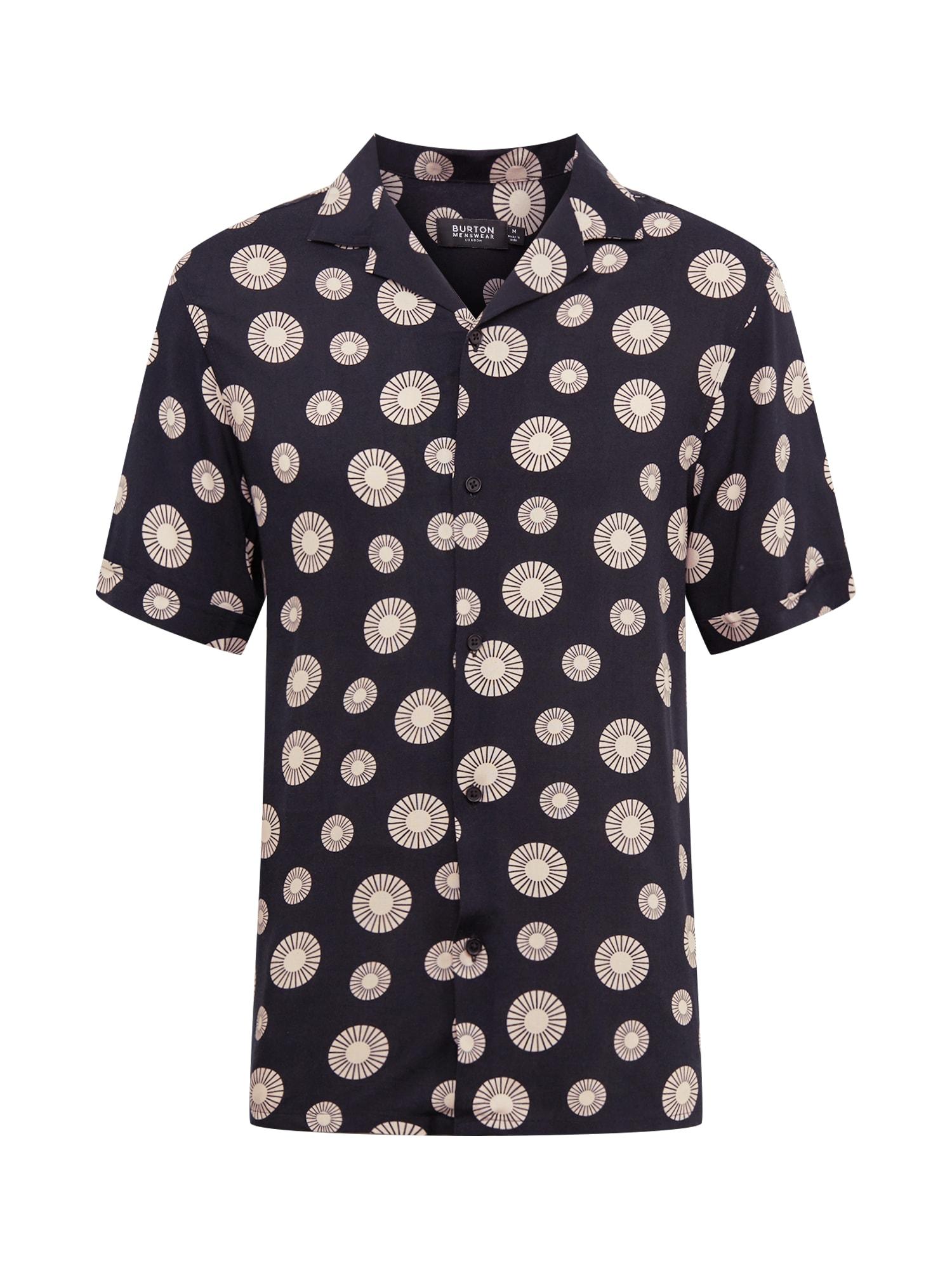 BURTON MENSWEAR LONDON Košeľa 'Sun Tile'  čierna / žlté