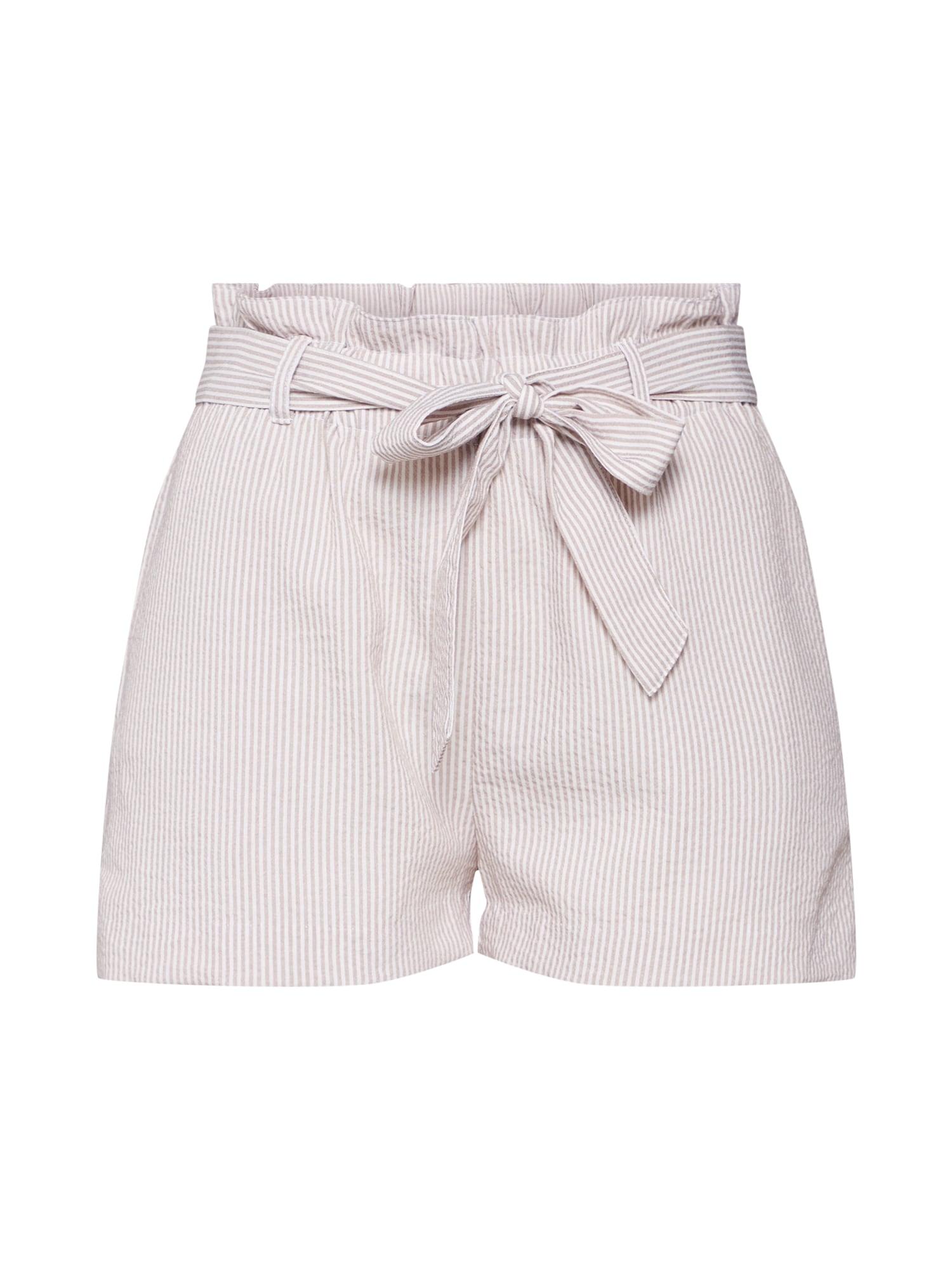 Kalhoty béžová bílá ONLY