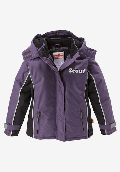 scout schneejacke f r kinder in aubergine schwarz. Black Bedroom Furniture Sets. Home Design Ideas