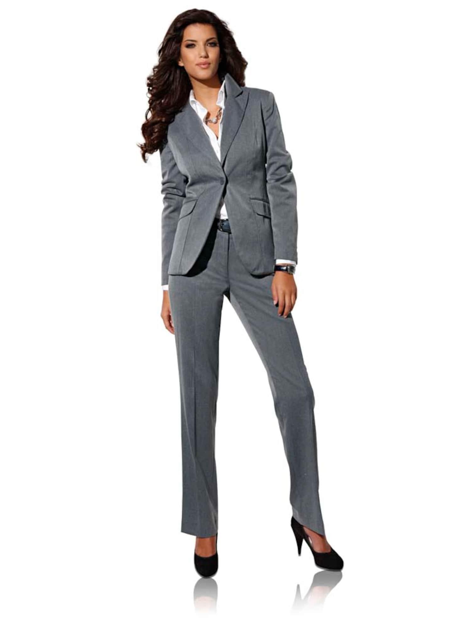 heine Moteriškas kostiumėlis su kelnėmis margai pilka
