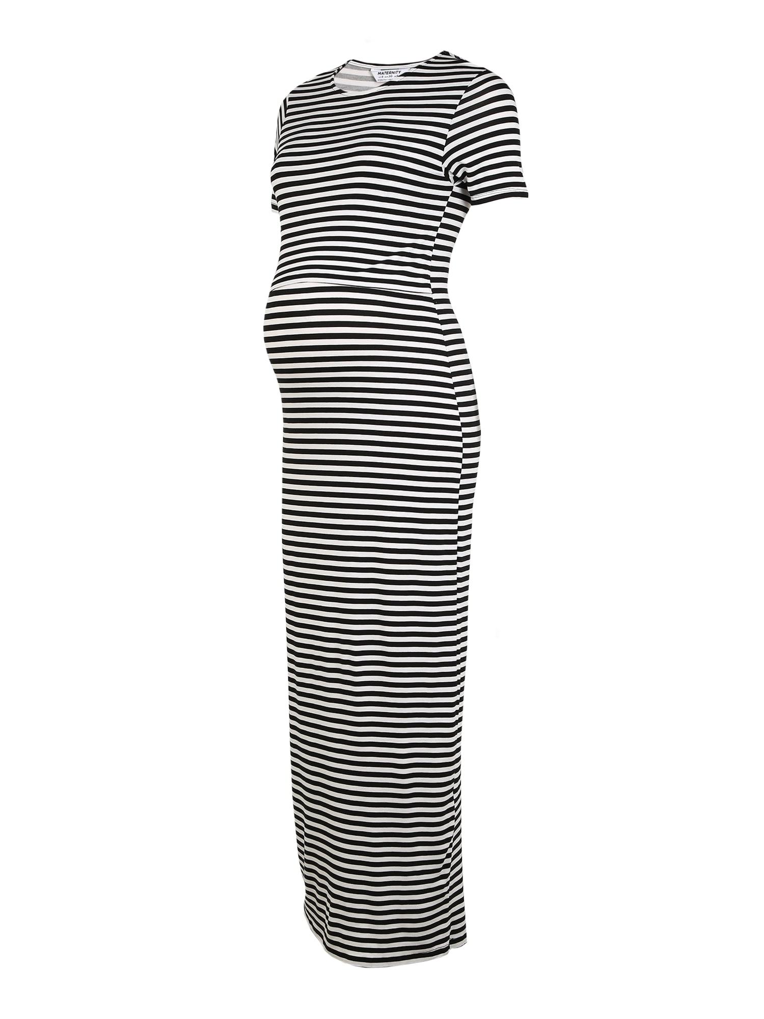 Dorothy Perkins Šaty 'Maternity Stripe Max'  čierna