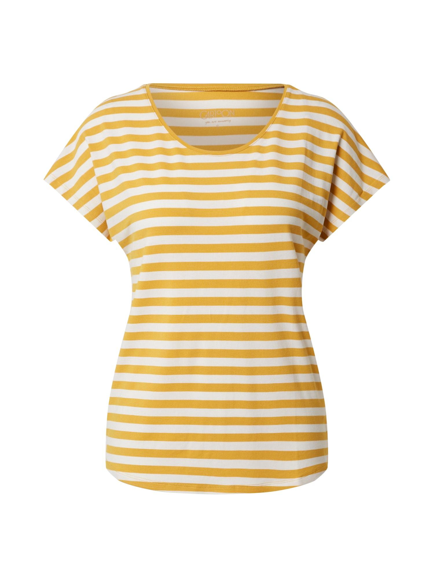 Cartoon Marškinėliai geltona / balta