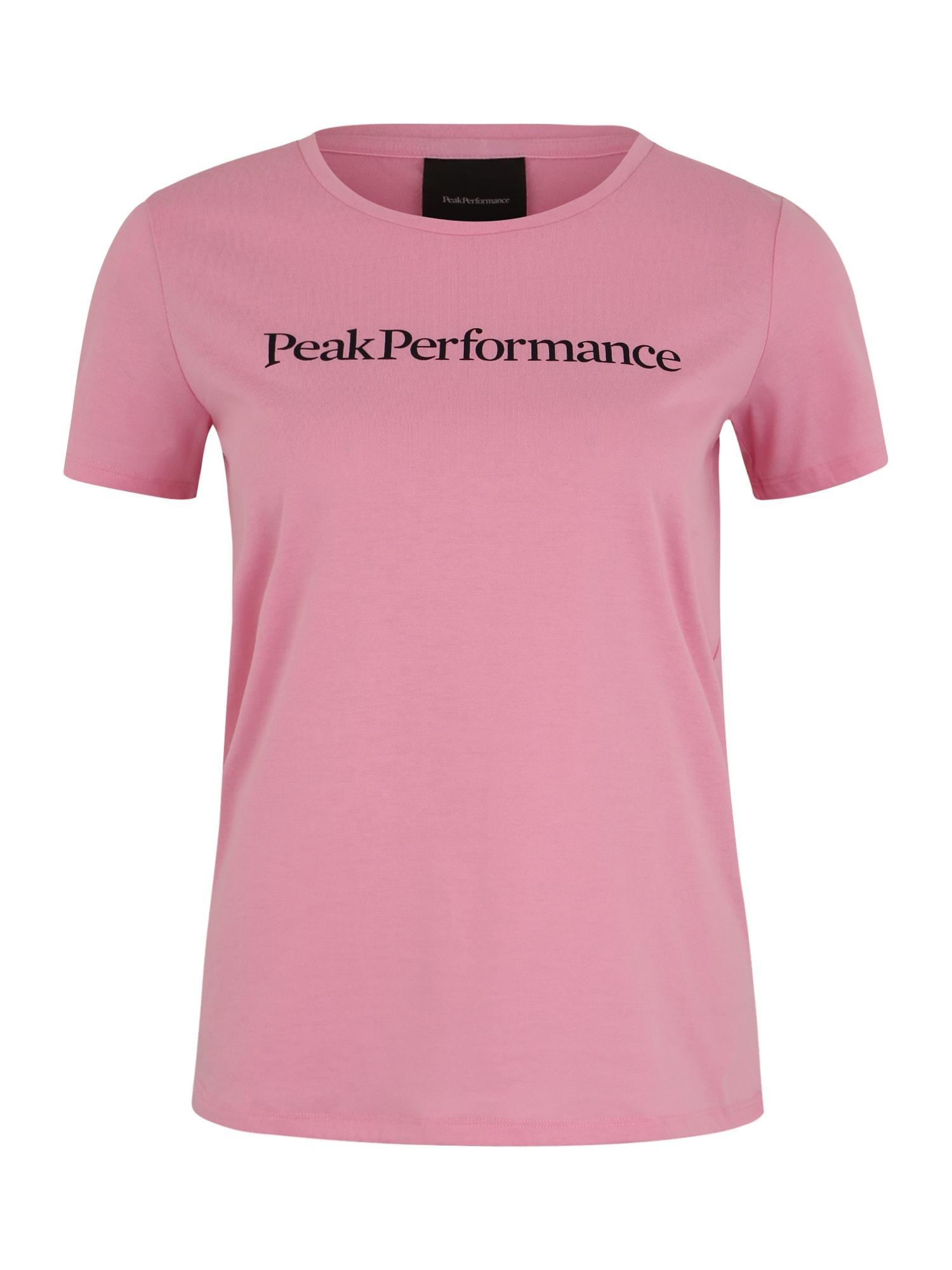 PEAK PERFORMANCE Sportiniai marškinėliai 'TRACK' juoda / rožių spalva
