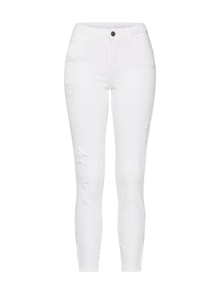 Hosen - Jeans 'KIMMY NW ANKZIP DST JEANS AZ063W NOOS' › Noisy May › weiß  - Onlineshop ABOUT YOU