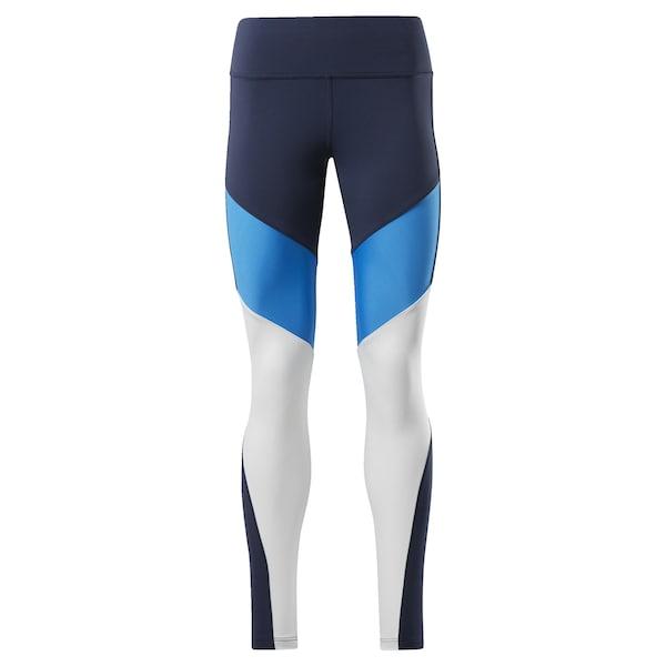 Hosen - Leggings › Reebok › aqua nachtblau weiß  - Onlineshop ABOUT YOU