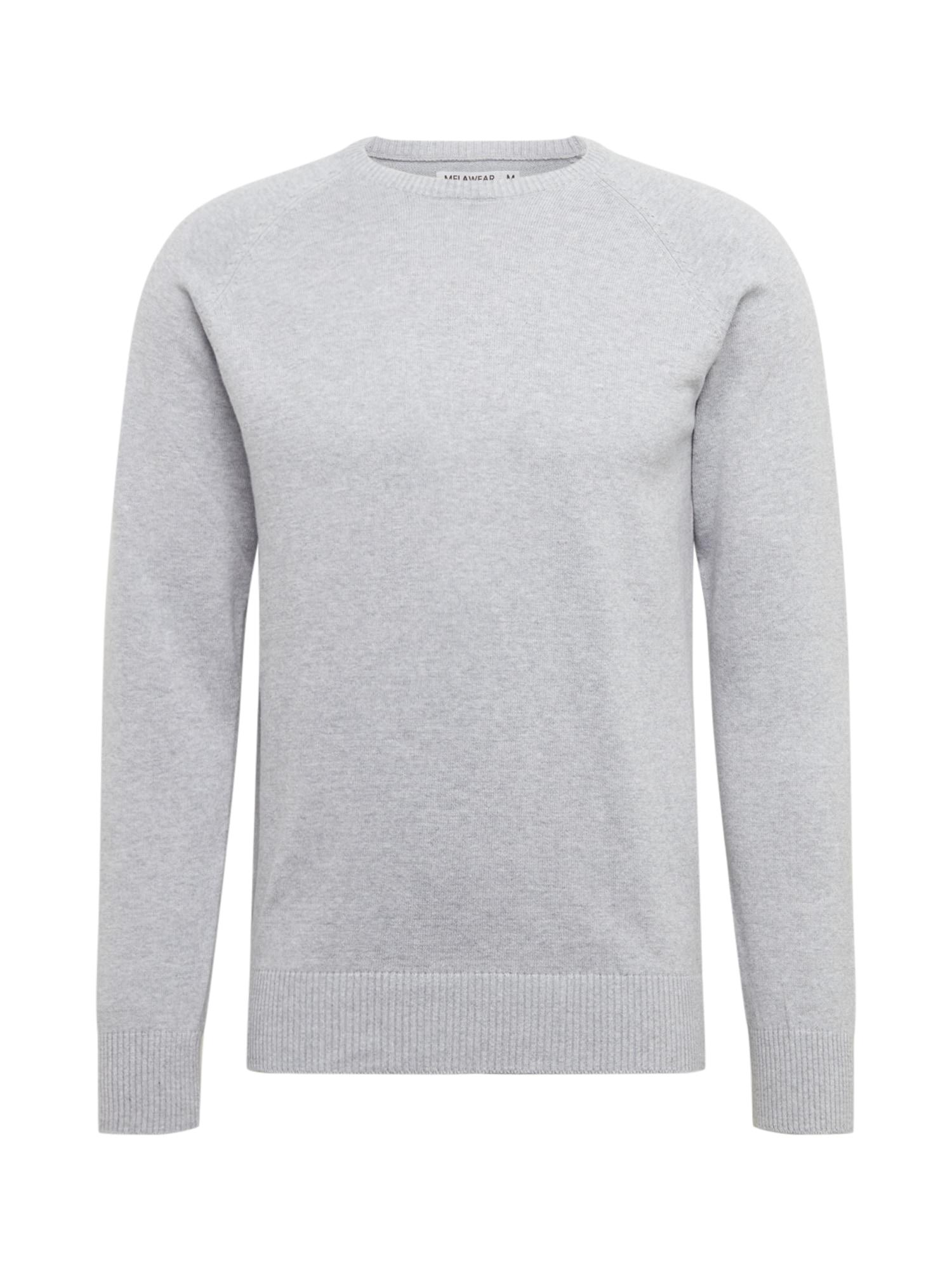 MELAWEAR Megztinis pilka / margai pilka