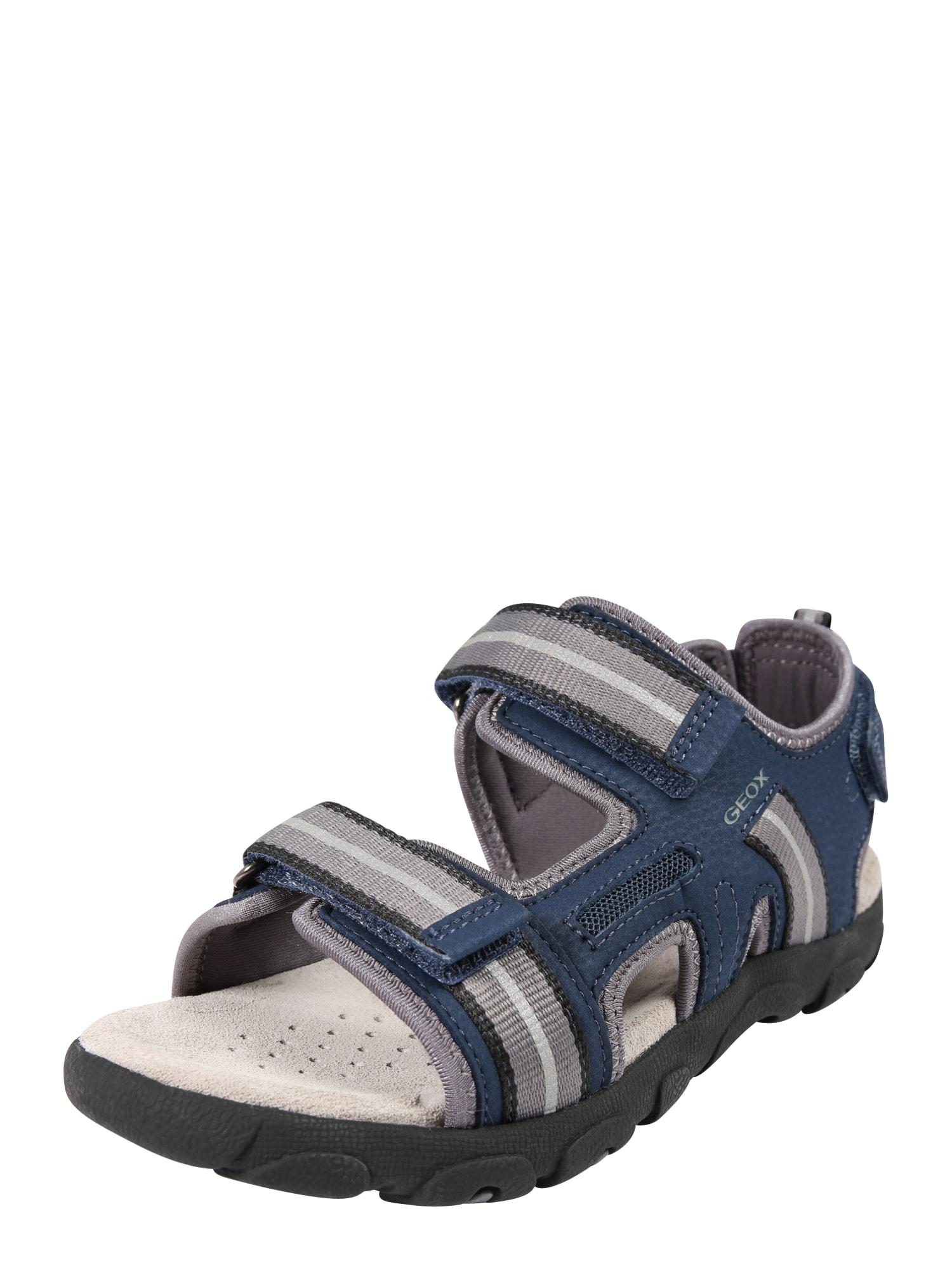 Otevřená obuv JR STRADA námořnická modř šedá GEOX