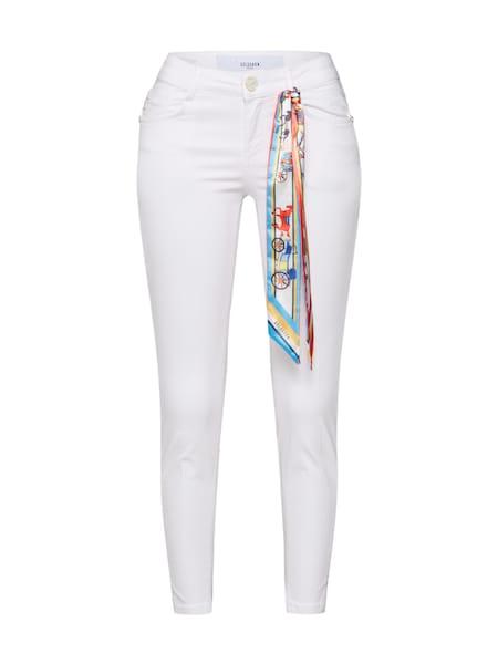 Hosen - Jeans 'JUNGBUSCH' › Goldgarn › weiß  - Onlineshop ABOUT YOU