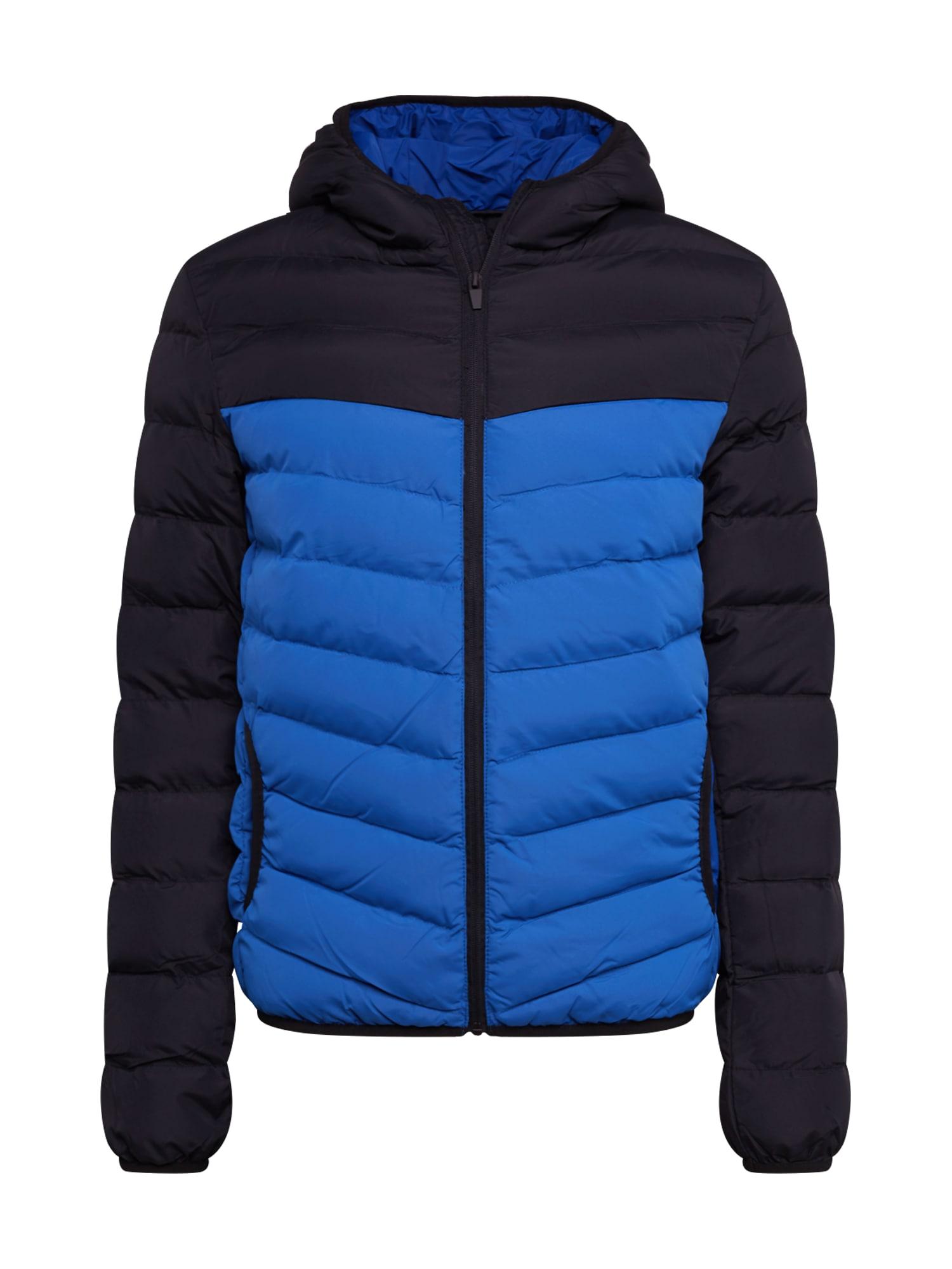BRAVE SOUL Zimní bunda 'MJK-GRANTHAMPKA'  modrá / černá