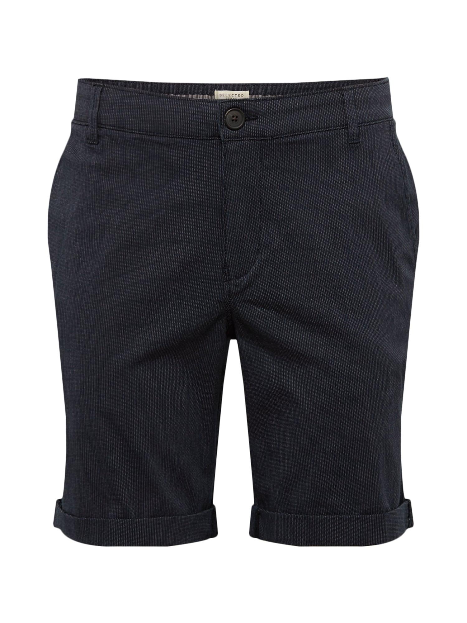 Chino kalhoty SLHSTRAIGHT-PARIS STRIPE SHORTS W tmavě modrá SELECTED HOMME