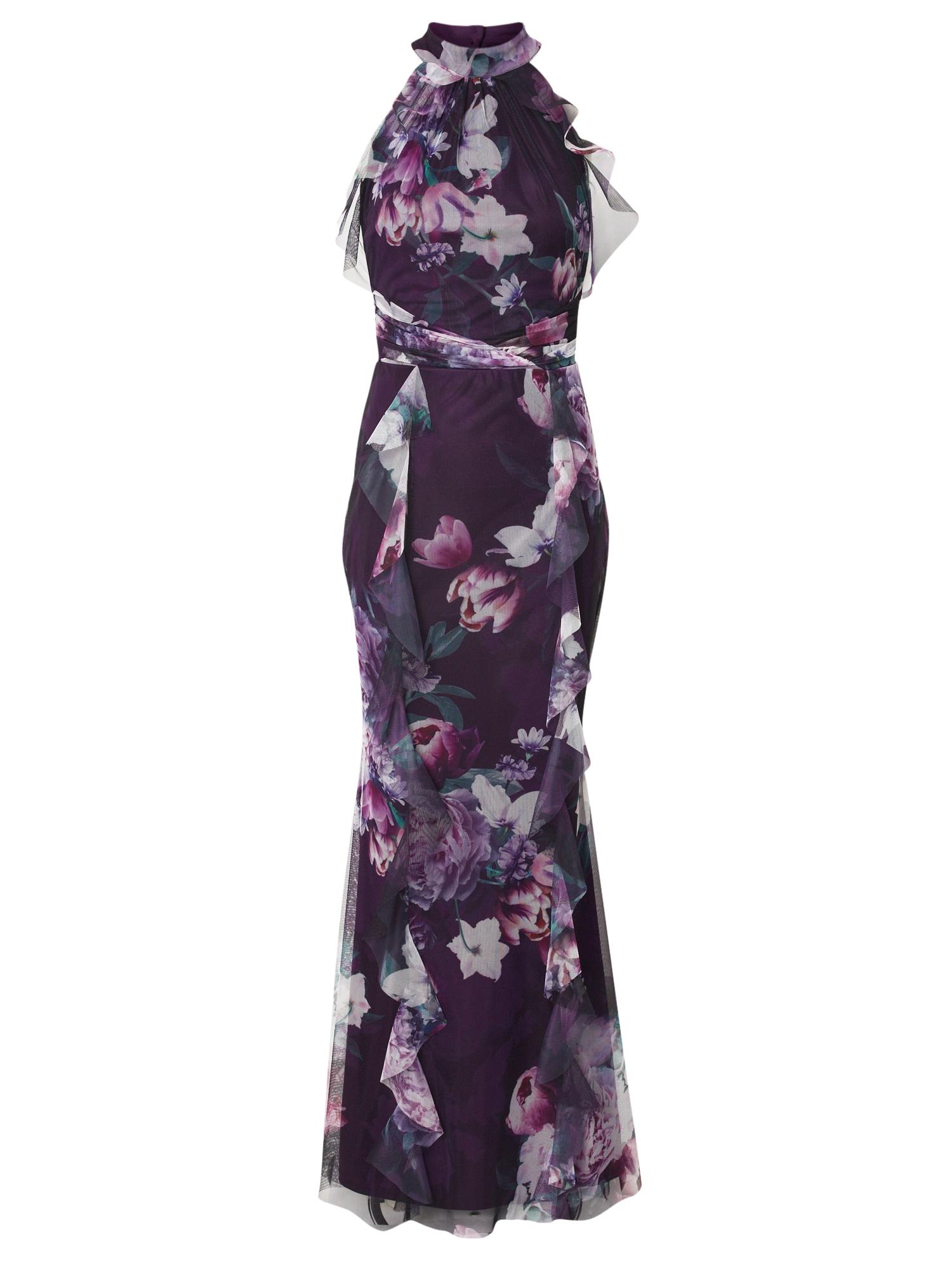 Lipsy Vakarinė suknelė juoda / rožinė / rožių spalva