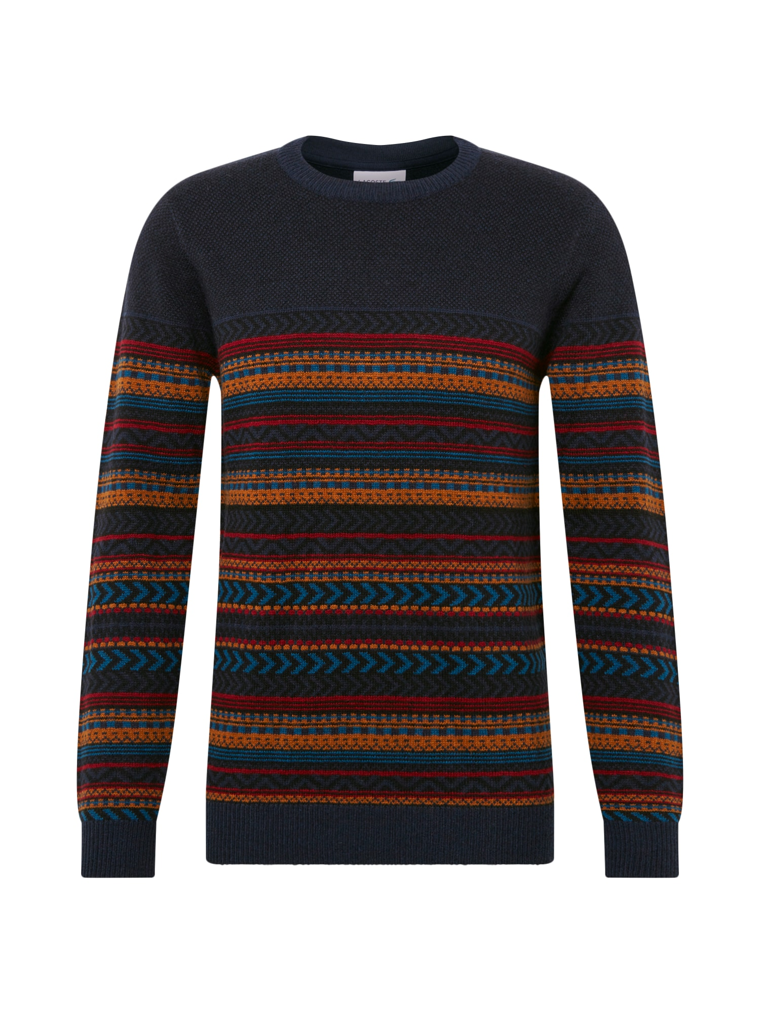 Lindbergh Megztinis 'Jacquard knit' tamsiai mėlyna / geltona / raudona