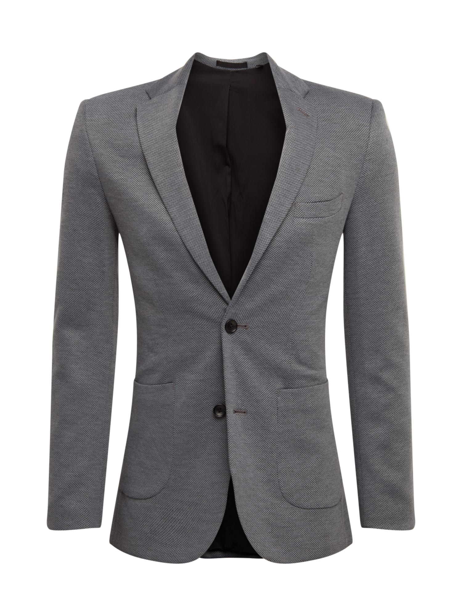 BURTON MENSWEAR LONDON Švarkas 'GREY PIQUE BLAZER' pilka