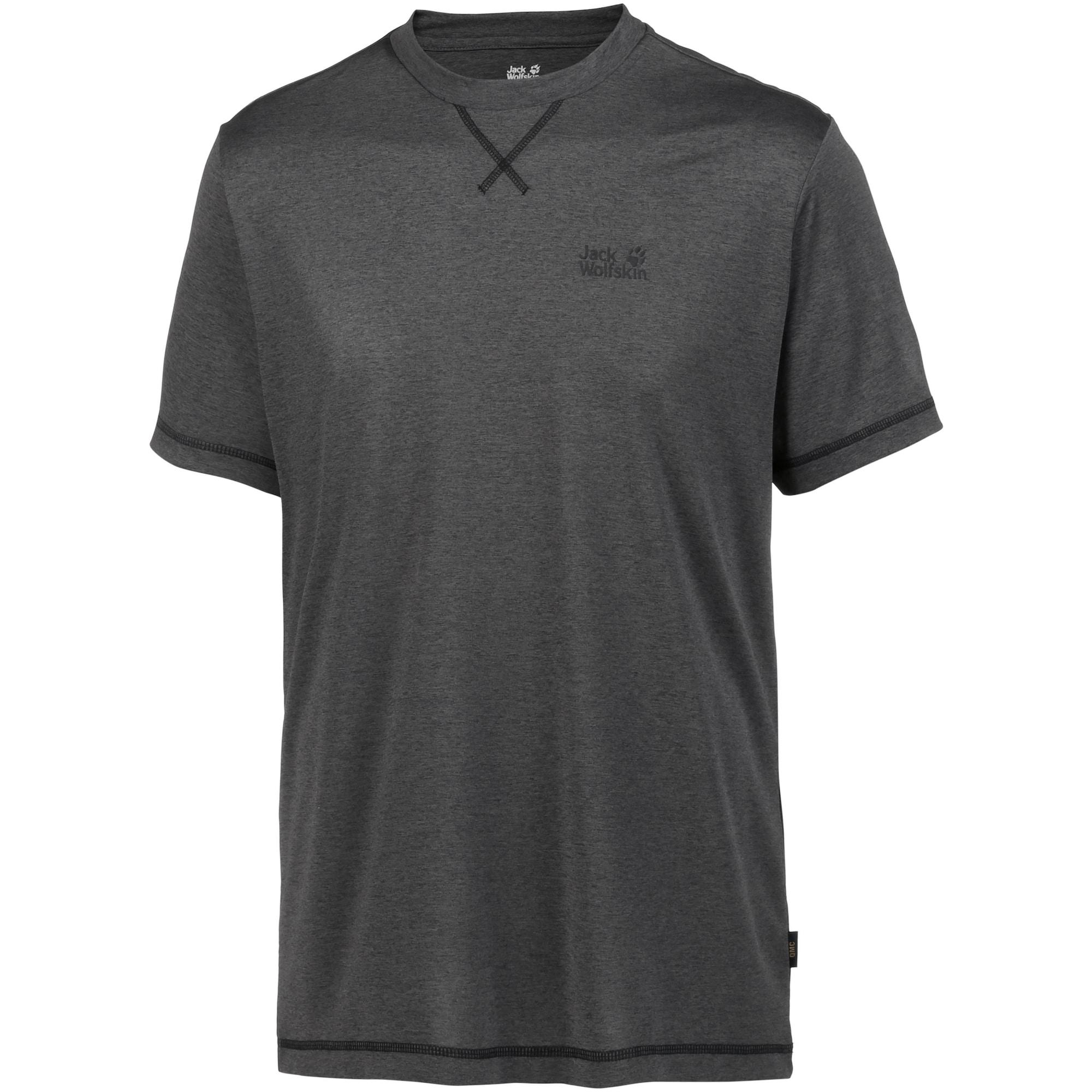 JACK WOLFSKIN Sportiniai marškinėliai 'Crosstrail' antracito