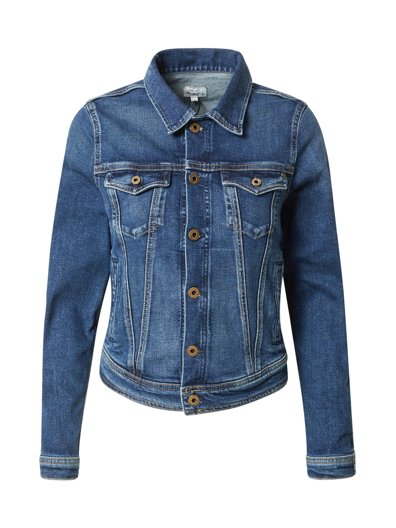 Pepe Jeans Demisezoninė striukė 'Core' tamsiai (džinso) mėlyna