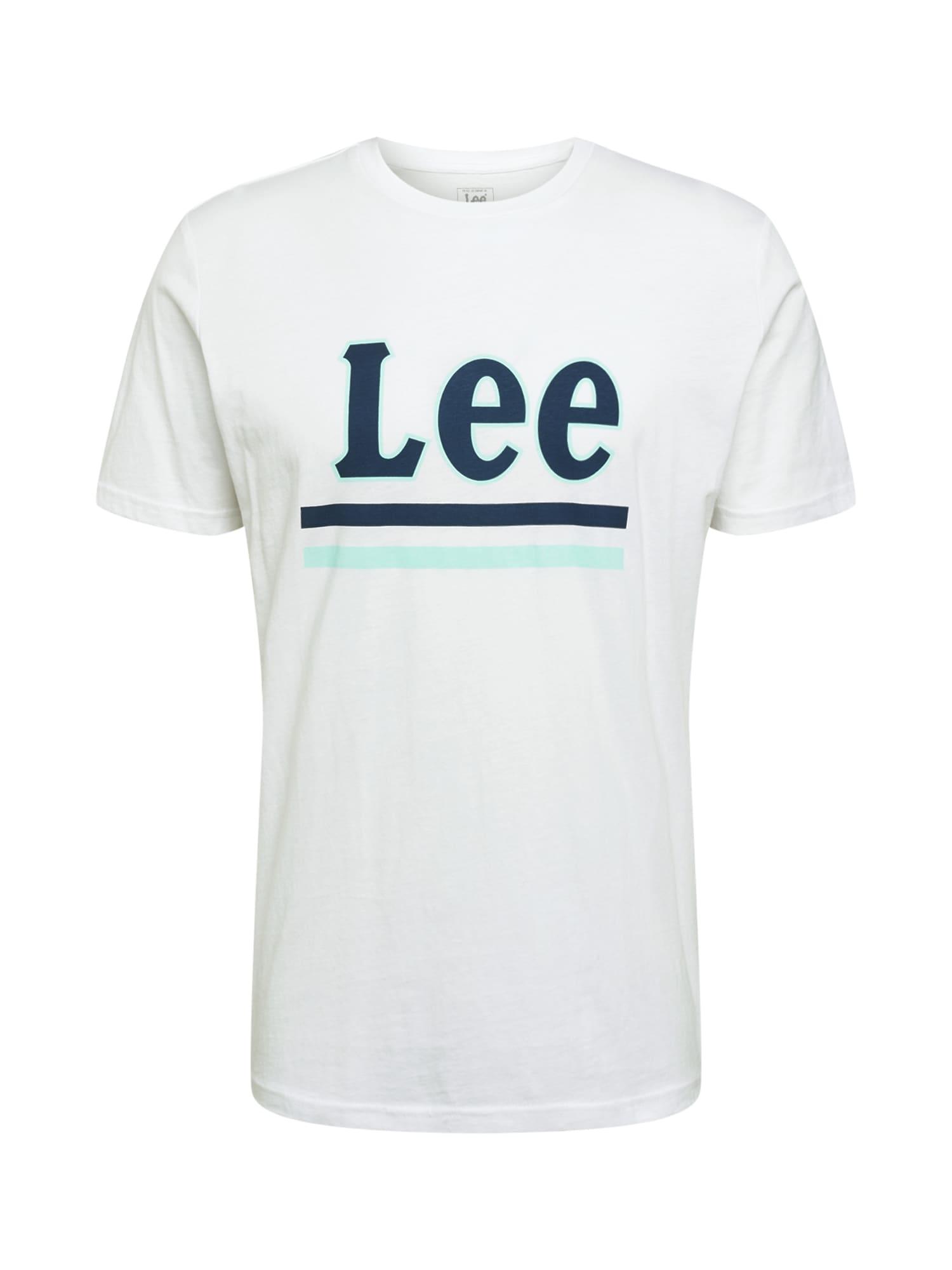 Lee Marškinėliai balta / tamsiai mėlyna / mėtų spalva