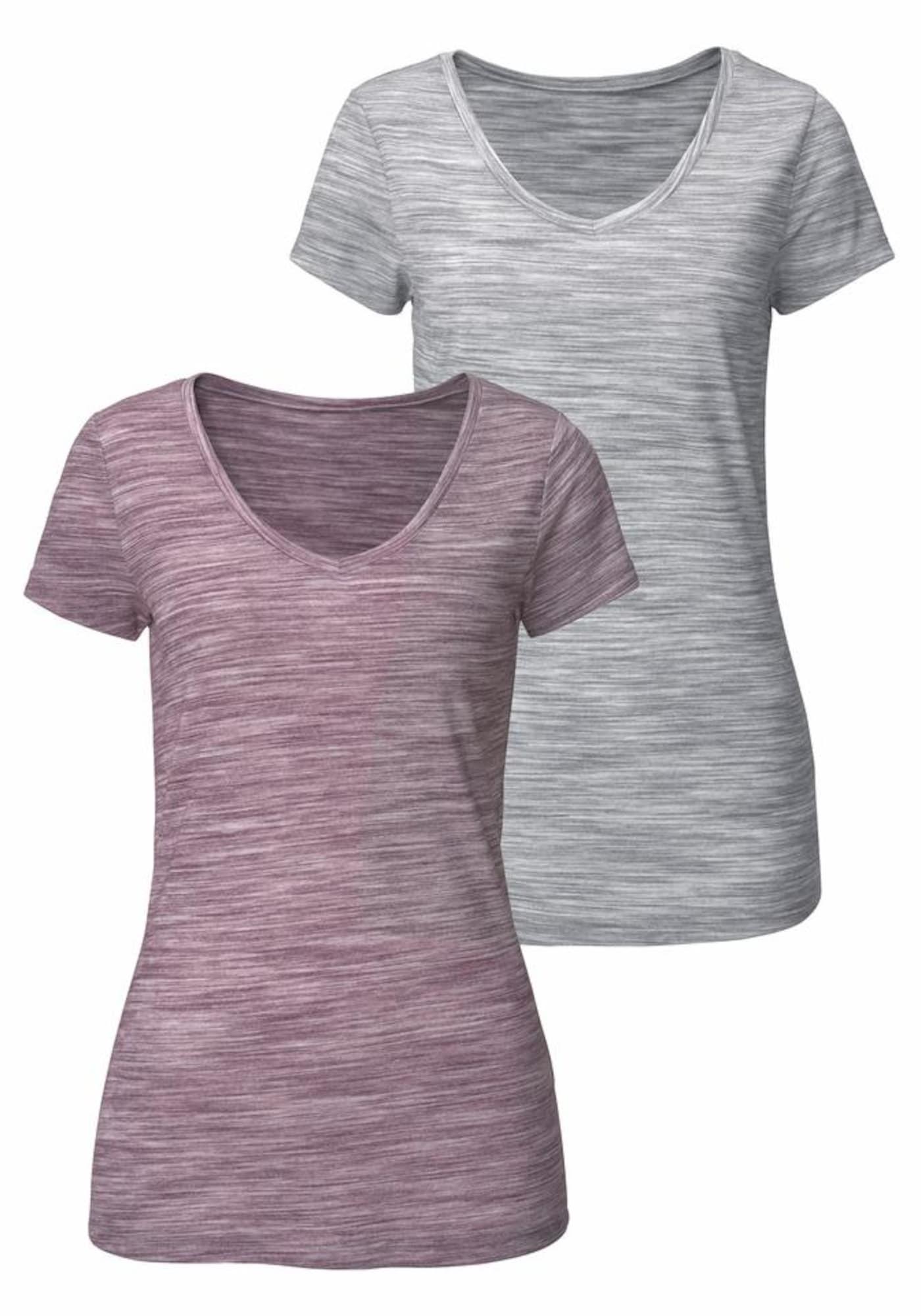 BEACH TIME Marškinėliai pilka / purpurinė