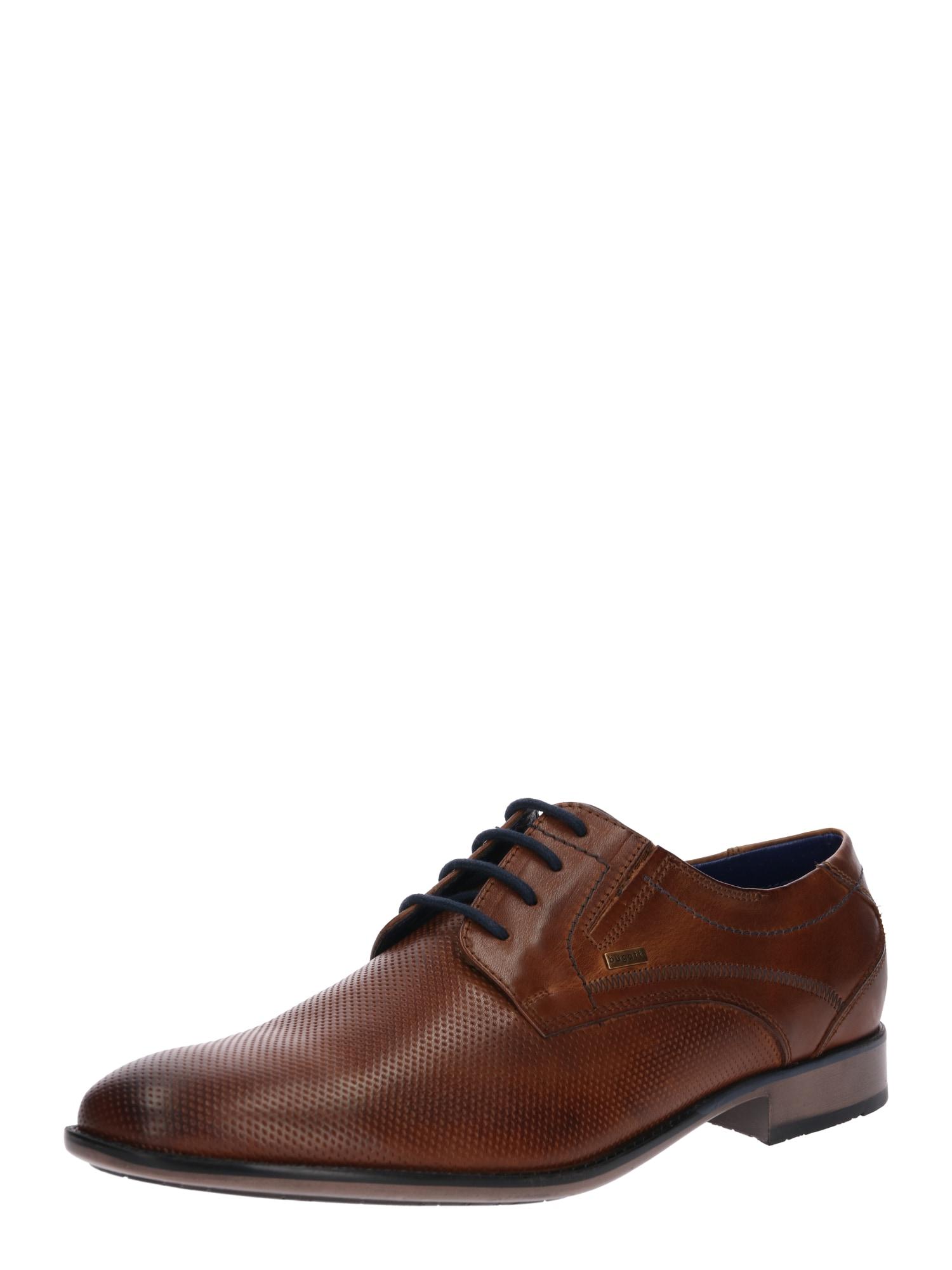 Šněrovací boty Gaspare-L koňaková Bugatti