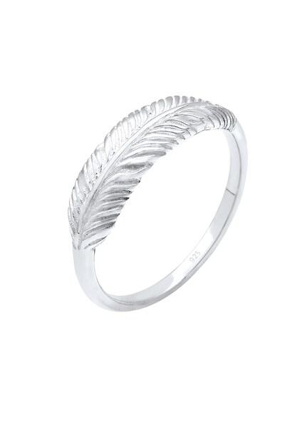 Ringe - Ring 'Feder' › ELLI › silber  - Onlineshop ABOUT YOU