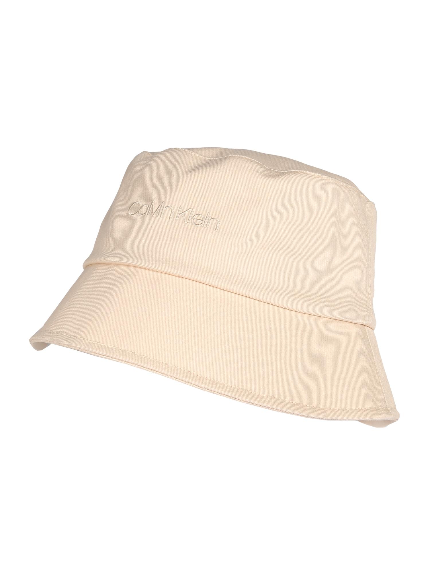 Calvin Klein Megzta kepurė smėlio