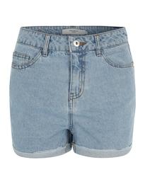 VERO MODA Damen Vmbe Nineteen Denim Shorts blau | 05713443803668